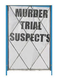 Murder trial suspects — Stock Photo