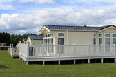 Static caravans in holiday park — Stock Photo