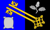 Surrey County Flag in England — Stock Photo