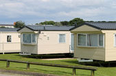 Caravan mobile homes — Stock Photo