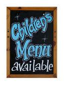 儿童菜单可用符号 — 图库照片