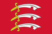 Flag of Essex County in England — Stock Photo
