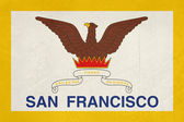 Grunge city of San Francisco flag — Stockfoto