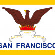 City of San Francisco flag — 图库照片