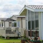 Mobile homes in trailer park — Stock Photo #18110551