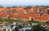 Red brick housing estate in England — Stock Photo