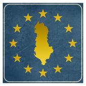 Albanian European button — Stock Photo