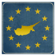 Cyprus European sign — Foto Stock