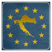 Croatia European sign — Stock Photo