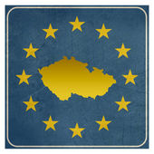 Czech Republic European sign — Stockfoto