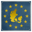 Denmark European sign — Stock Photo