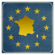 France European sign — Foto Stock