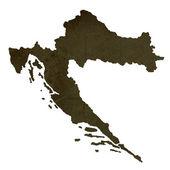Mapa silueta oscura de Croacia — Foto de Stock