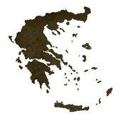 黑暗的剪影的地图的希腊 — 图库照片