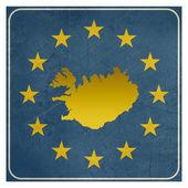 Sinal Europeu Islândia — Fotografia Stock