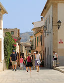 Palma city street scene — Stock Photo