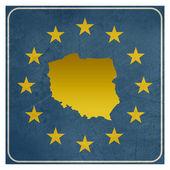 Poland European sign — Stock Photo