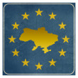 Ukraine European sign — Foto Stock