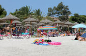 Spanish beach in Majorca — Stockfoto