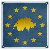 Switzerland European sign — Stock Photo