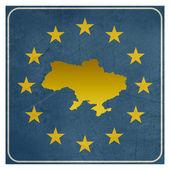 Ukraine European sign — Stock Photo