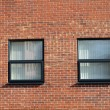 Windows in brick wall — Stock Photo