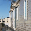 Exterior of mobile home — Stock Photo