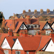 English town houses — Stock Photo