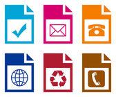 Set of computer folders — Stock Photo