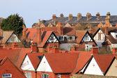 İngilizce kasaba evleri — Stok fotoğraf