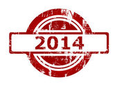 2014 rode stempel — Stockfoto