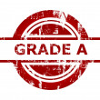 Grade A red stamp — Stockfoto