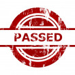 Passed red stamp — Stock Photo