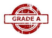 Grade A red stamp — Stock Photo