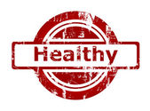Healthy red stamp — Stock Photo
