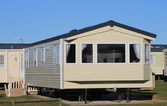 Mobile home on caravan park — Stockfoto