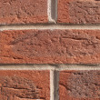 Red brick wall — Foto Stock