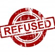 Red refused stamp — Stock Photo