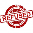 Stock Photo: Red refused stamp