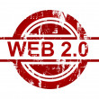 Web 2.0 stamp — Stock Photo