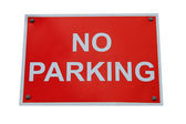 Red no parking sign — Stock Photo