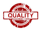 Red quality stamp — Stock Photo