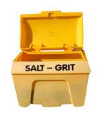 Salt grit bin — Stock Photo