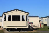 Trailer in caravan park — Stock Photo