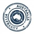 Australia passport stamp - Stock Photo