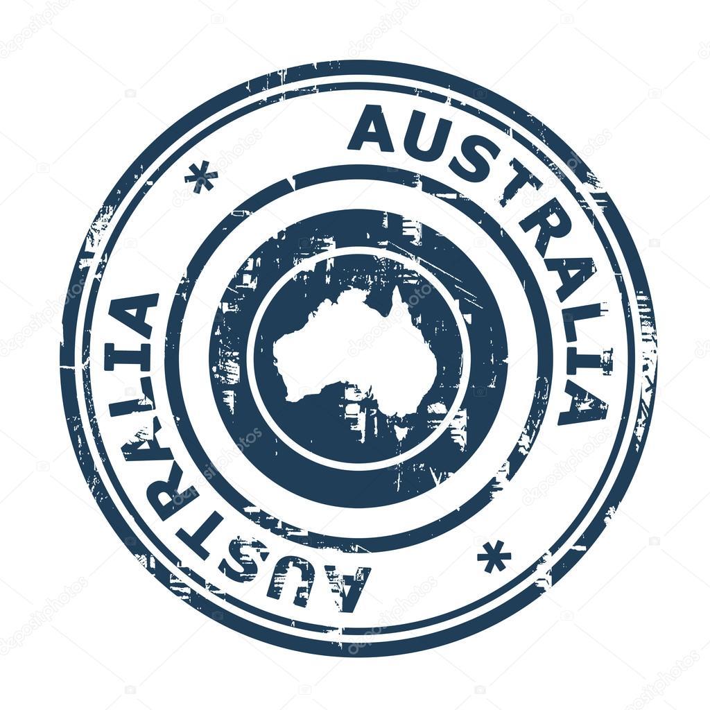 Australia passport stamp — Stock Photo © speedfighter17 #24586311