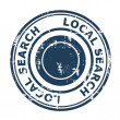 Stock Photo: Local search SEO concept stamp
