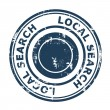 Local search SEO concept stamp — 图库照片 #24596869
