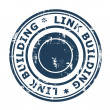 Stock Photo: Link Building SEO concept stamp