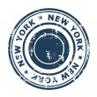 New York travel stamp - Stock Photo